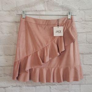 Jack by BB Dakota Suede Babe Ruffle mini Skirt
